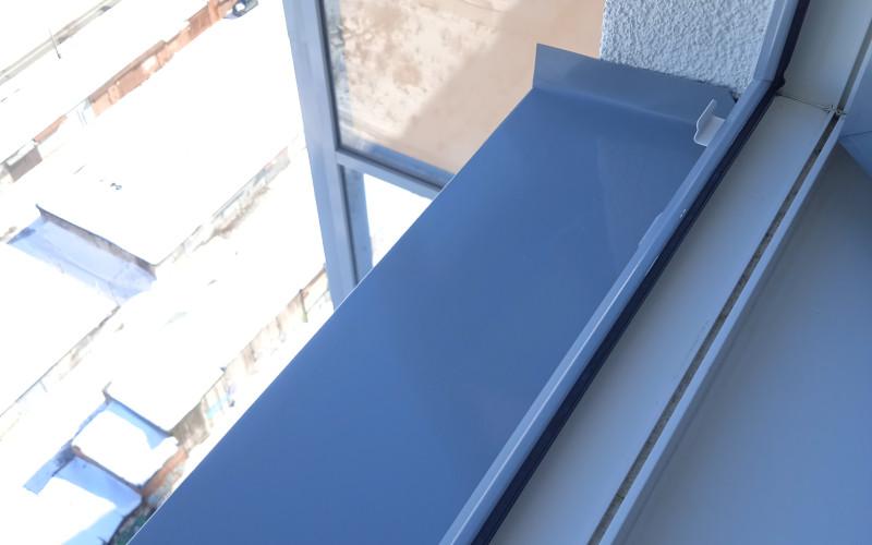 замена отлива окна